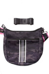 Haute Shore - Blake Elite Cross Body (Black, Black Camo w/Black & White Stripes) alt view 5