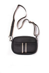 Haute Shore - Drew Puffer Grand Crossbody (Drew, Black Denim w/Platinum Stripe) alt view 1