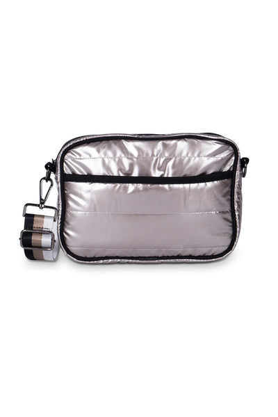 Haute Shore - Drew Puffer Noble Crossbody (Drew, Metalic Silver)