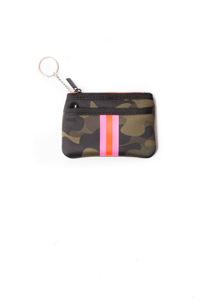 Haute Shore - Show-Off Card Case (Max, Camo Green w/Orange & Pink Stripe)