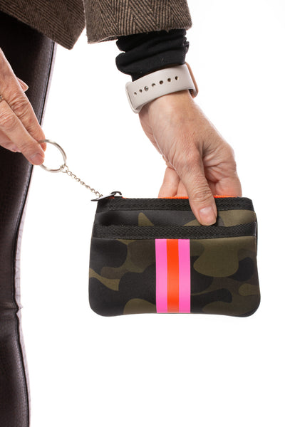 Haute Shore - Show-Off Card Case (Max, Camo Green w/Orange & Pink Stripe) alt view 2