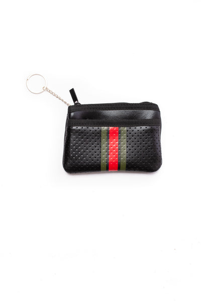 Haute Shore - Bello Card Case (Max, Black w/Red & Green Stripes)