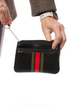 Haute Shore - Bello Card Case (Max, Black w/Red & Green Stripes) alt view 2