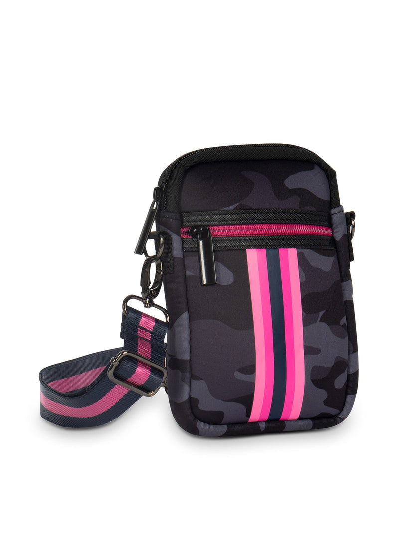 Haute Shore - Casey Epic Neoprene Cell Phone Case (Casey, Blue Camo w/Pink & Blue Stripe)