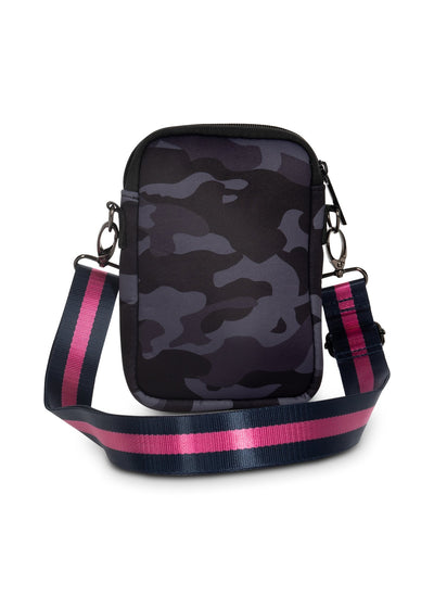 Haute Shore - Casey Epic Neoprene Cell Phone Case (Casey, Blue Camo w/Pink & Blue Stripe) alt view 3