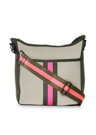 Haute Shore - Blake Swank Cross Body (Blake, Putty w/Army & Hot Pink Stripe) alt view 1