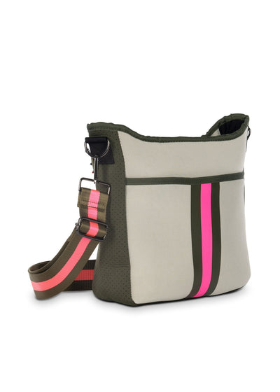 Haute Shore - Blake Swank Cross Body (Blake, Putty w/Army & Hot Pink Stripe) alt view 2