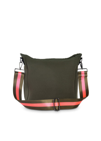 Haute Shore - Blake Swank Cross Body (Blake, Putty w/Army & Hot Pink Stripe) alt view 4