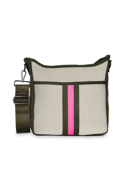 Haute Shore - Blake Swank Cross Body (Blake, Putty w/Army & Hot Pink Stripe) alt view 5