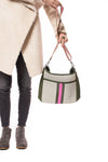 Haute Shore - Blake Swank Cross Body (Blake, Putty w/Army & Hot Pink Stripe) alt view 7