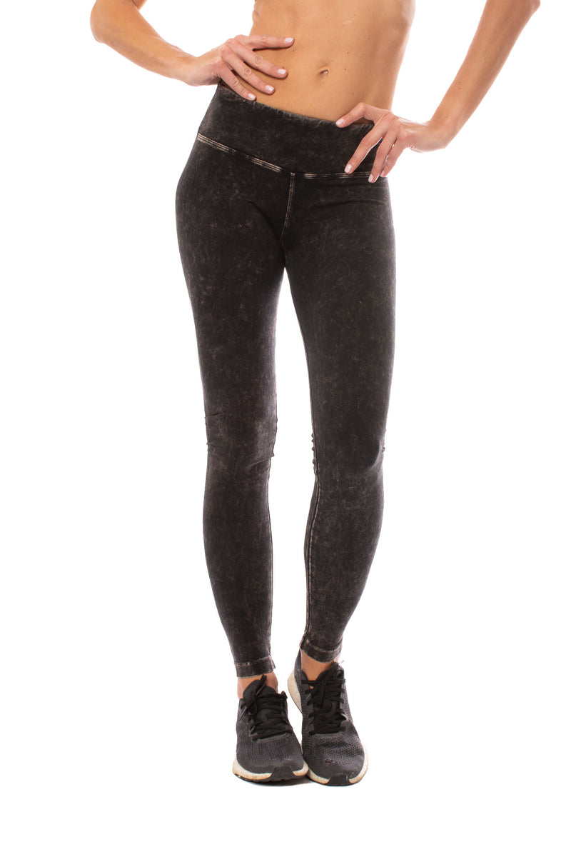 Hard Tail Forever - Flat Waist Ankle Legging (W-452, Mineral Wash MW6)