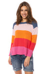 Zaket & Plover - Horizontal Stripe Color Block Sweater (ZW2225U, Bubble Gum) alt view 1