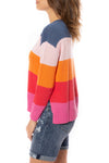 Zaket & Plover - Horizontal Stripe Color Block Sweater (ZW2225U, Bubble Gum) alt view 2