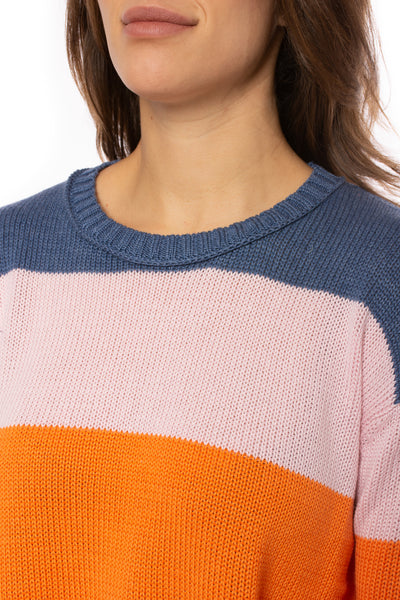 Zaket & Plover - Horizontal Stripe Color Block Sweater (ZW2225U, Bubble Gum) alt view 6