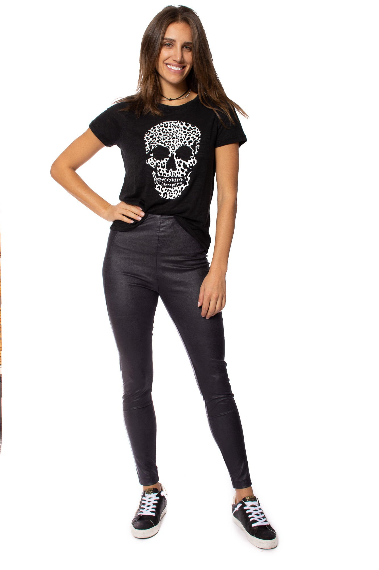 Chaser - Slub Jersey With Skull (CW8188-CHA5602, Vintage Black)