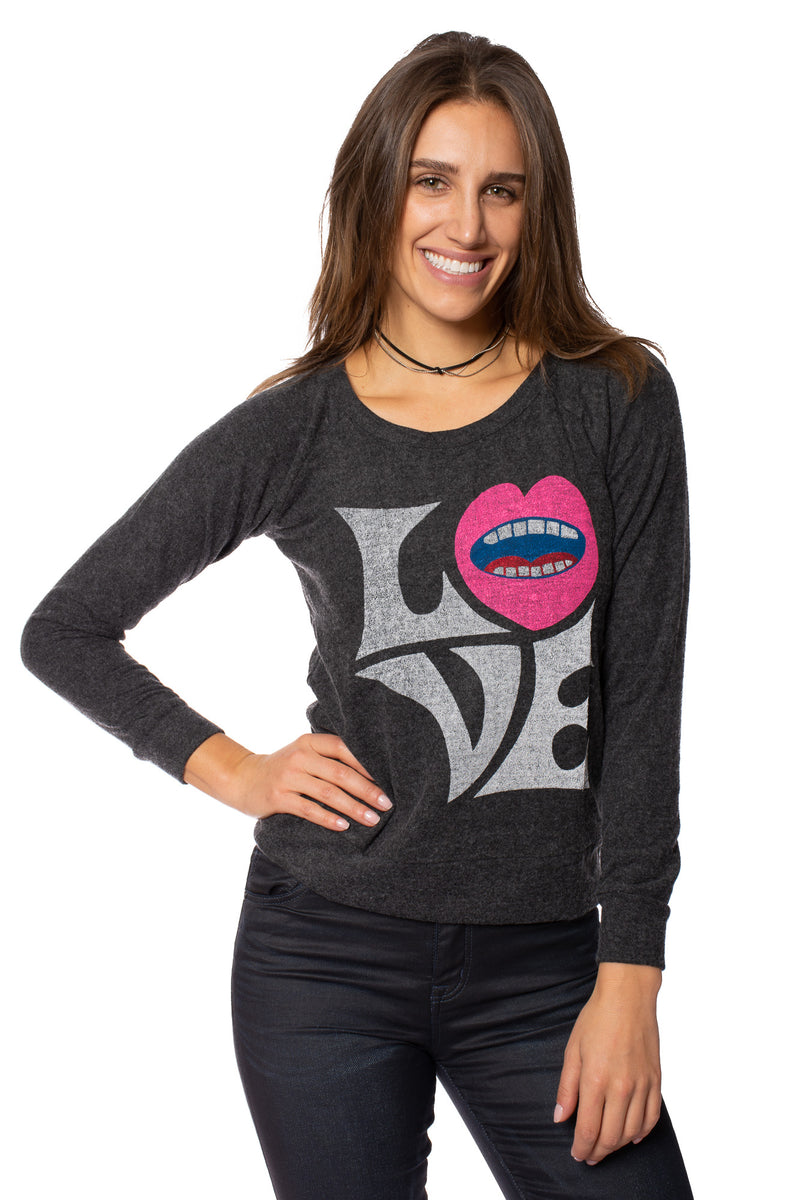 Chaser - Love Knit Long Sleeve Pullover (CW6395-CHA5621, Black)