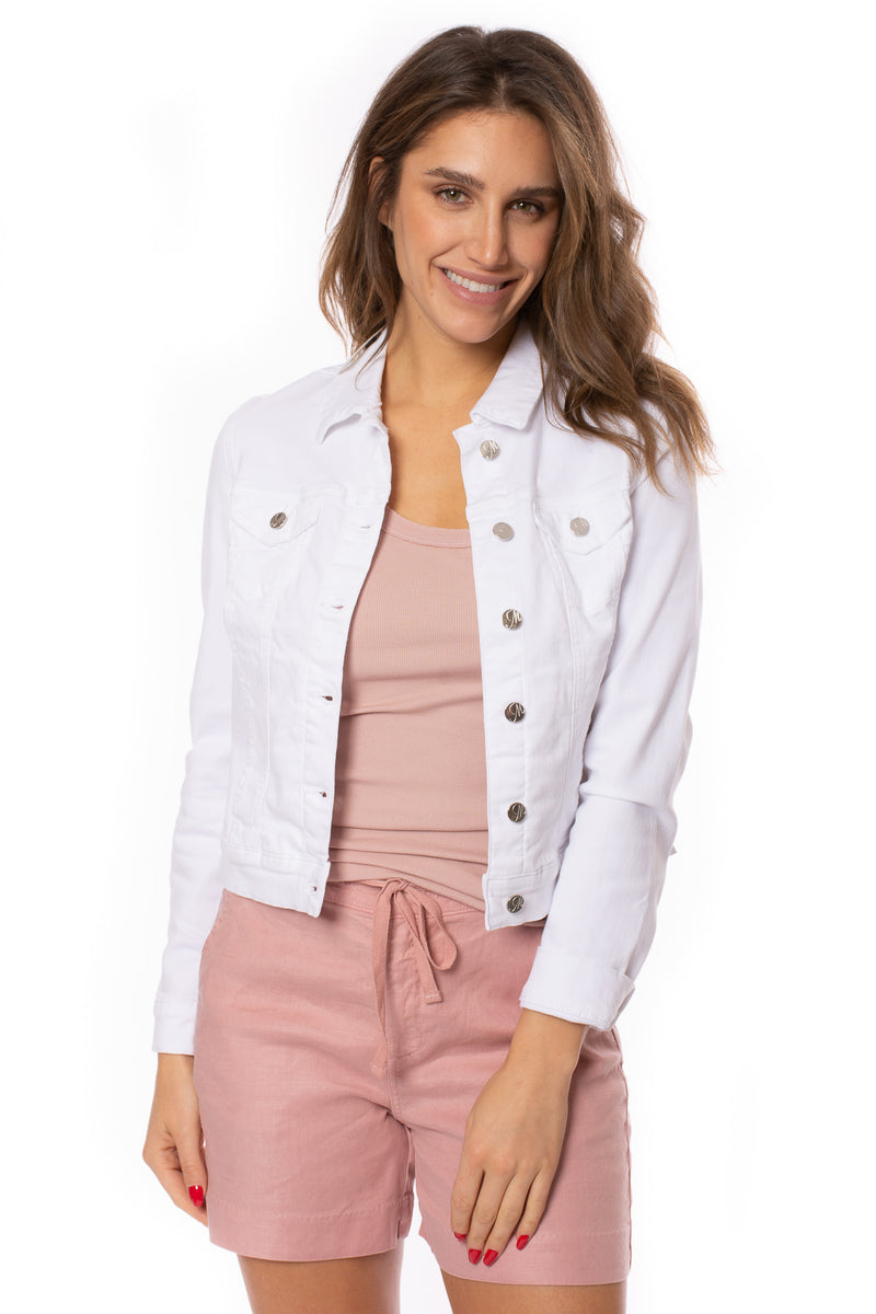 Mavi Jeans - Samantha Doble White Super Soft Cotton Jacket (11302, White)