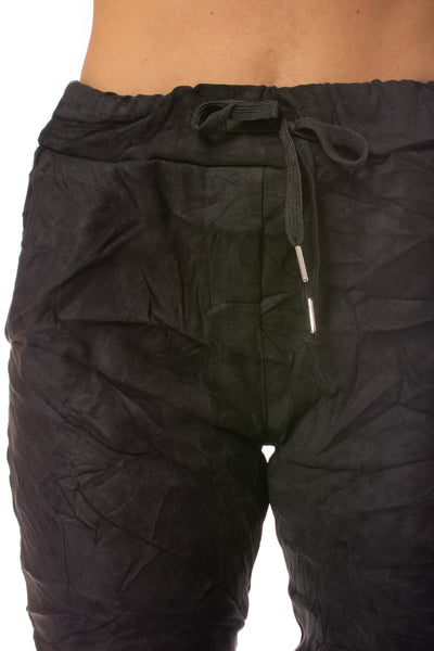 Brand Bazaar - One Size Fits All Draw String Cropie Pant (CROPIE, Black) alt view 3