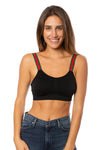 strap-its - Black Bra w/Green & Red Straps (GMS, Black/Red/Green)