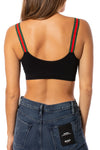 strap-its - Black Bra w/Green & Red Straps (GMS, Black/Red/Green) alt view 2