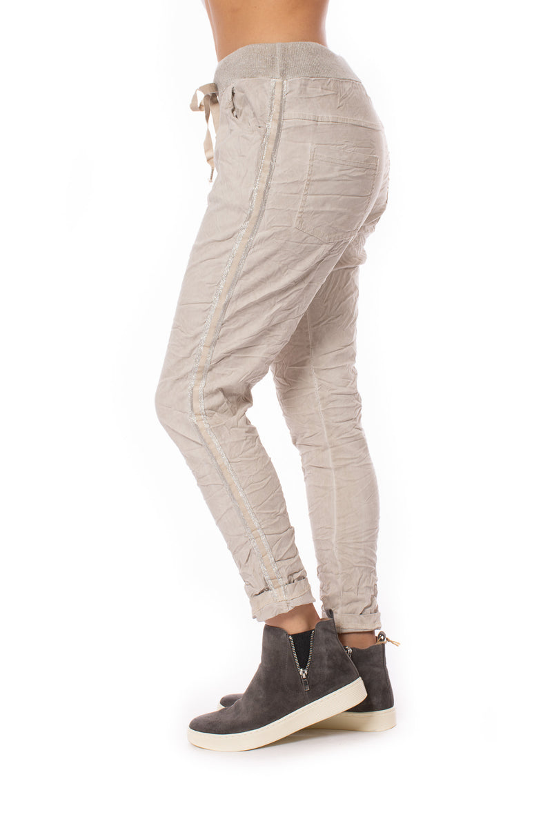 Brand Bazaar - One Size Fits All Two Band Drawstring Pants (TWO BAND, Beige)