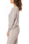 Brand Bazaar - One Size Fits All Gliter Sleeve Shirt (GLIT SLV, Beige) alt view 2