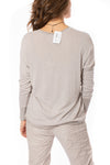 Brand Bazaar - One Size Fits All Gliter Sleeve Shirt (GLIT SLV, Beige) alt view 3