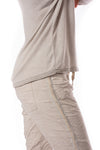Brand Bazaar - One Size Fits All Gliter Sleeve Shirt (GLIT SLV, Beige) alt view 4