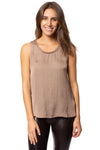 KLK Clothing Co. - Satin Tank (KD43752, Mocha)