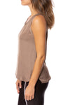 KLK Clothing Co. - Satin Tank (KD43752, Mocha) alt view 1
