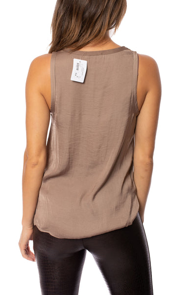 KLK Clothing Co. - Satin Tank (KD43752, Mocha) alt view 2