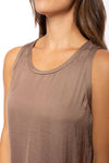 KLK Clothing Co. - Satin Tank (KD43752, Mocha) alt view 4