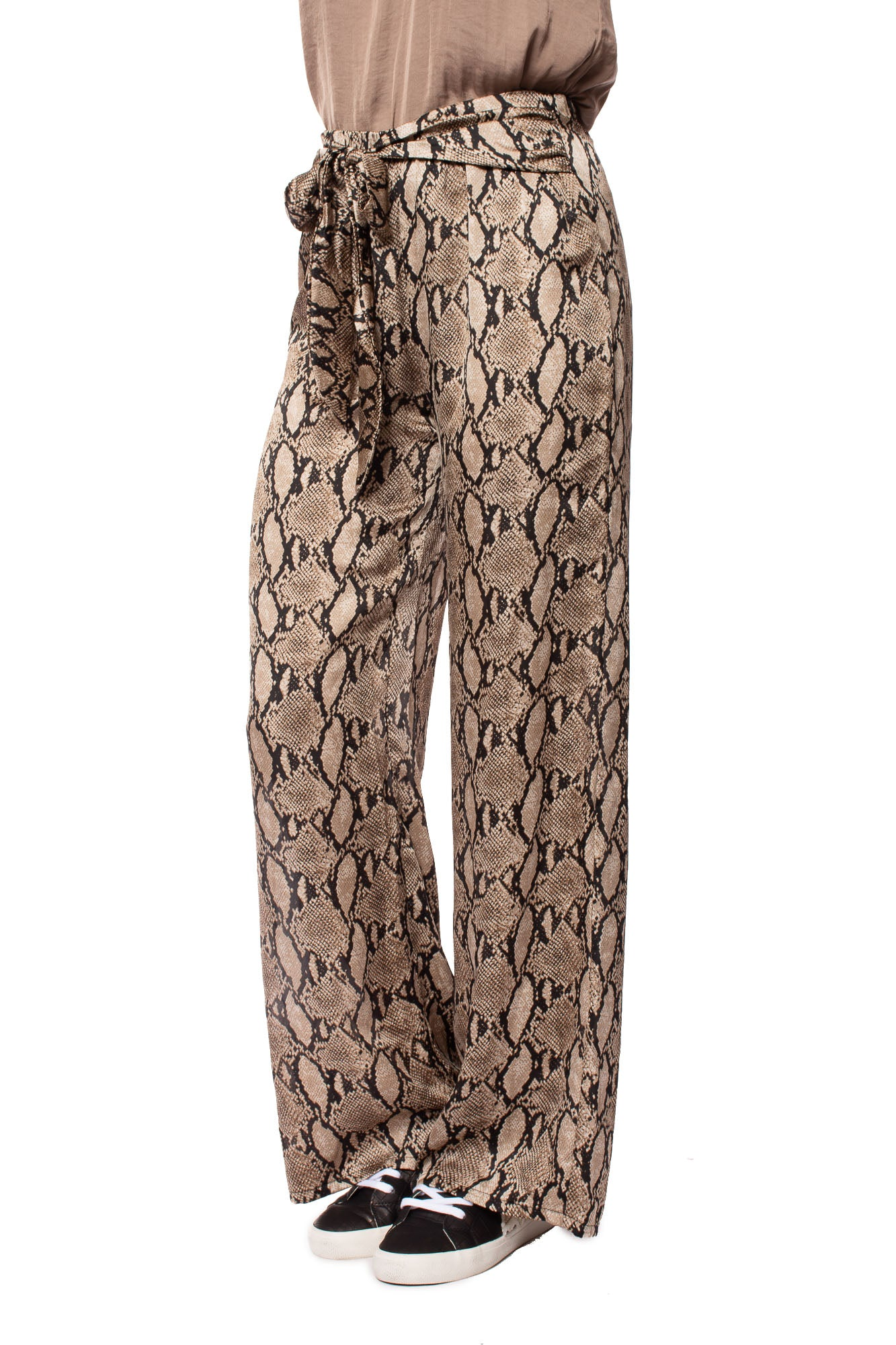 KLK Clothing Co. - Satin Snake Skin Pattern Pants (KD60154, Snake Skin)