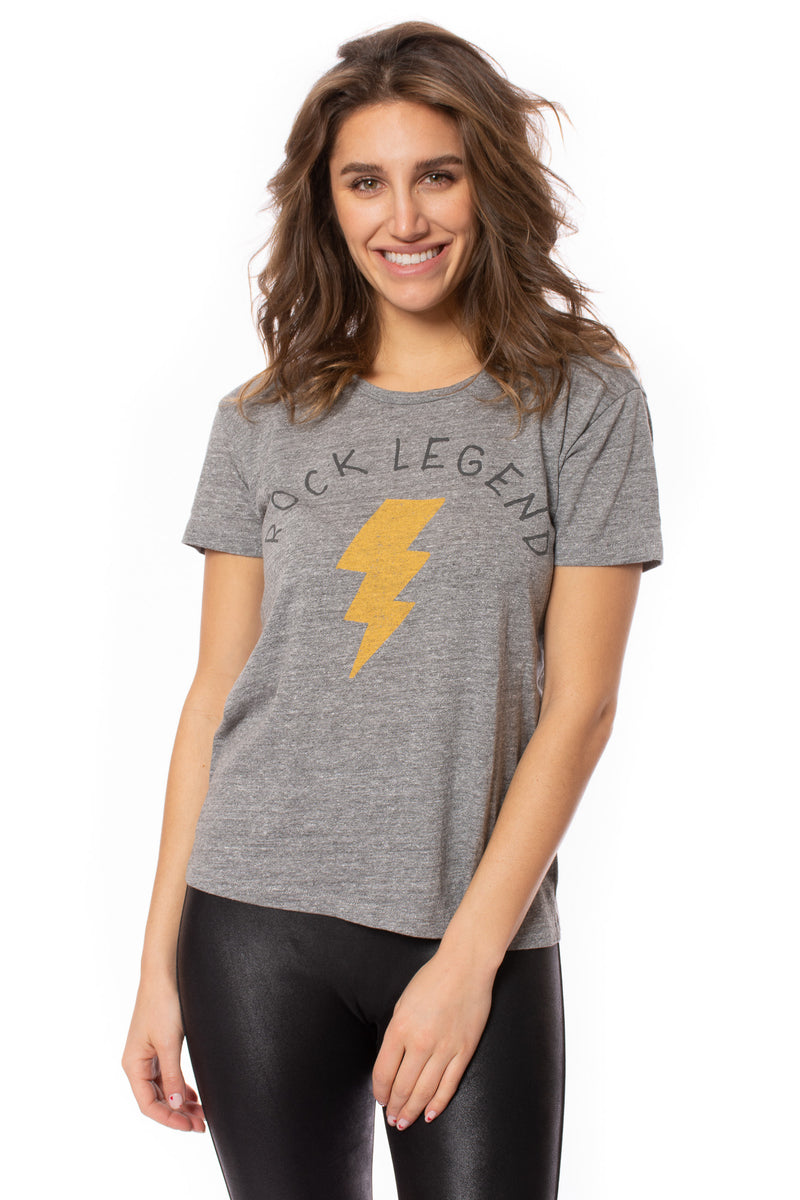 Chaser - Rock Legend T-Shirt (CW8595-CHA6032, Heather Grey)