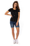 Chaser - Linen Lightning Bolt Short Sleeve Tee (CW7695-CHA6025, Black)