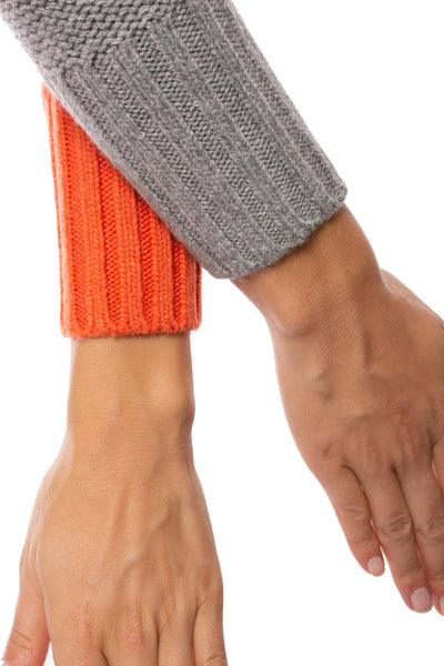 Zaket & Plover - Persimmon Crew Neck Sweater (ZW2094U, Persimmon) alt view 5