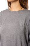 Elan - Long Sleeve Crew Neck Sweater w/Sleeve Stars (SW10507, Grey w/Stars) alt view 5
