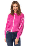 Elan - One Size Fits All Tie-Dye Crew Neck Sweater (SW10456, Tie-Dye Pink) alt view 1