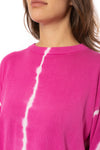 Elan - One Size Fits All Tie-Dye Crew Neck Sweater (SW10456, Tie-Dye Pink) alt view 6