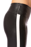 Spanx - Faux Leather Side Stripe Leggings (20187R, Black w/White Stripe) alt view 4