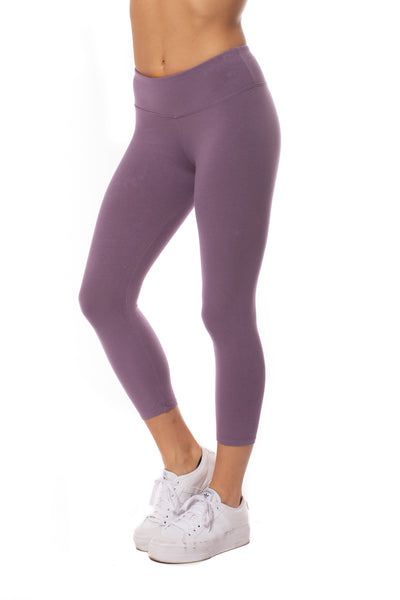 Hard Tail Forever - Flat Waist Capri (W-374, Grape Vine)