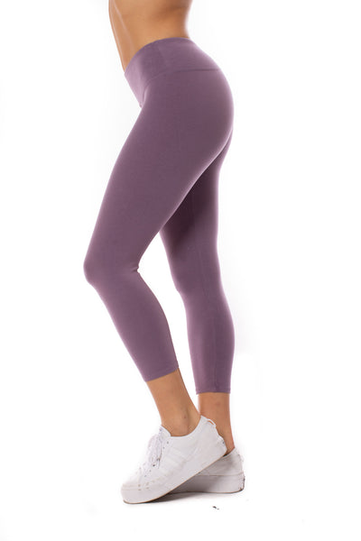 Hard Tail Forever - Flat Waist Capri (W-374, Grape Vine) alt view 1