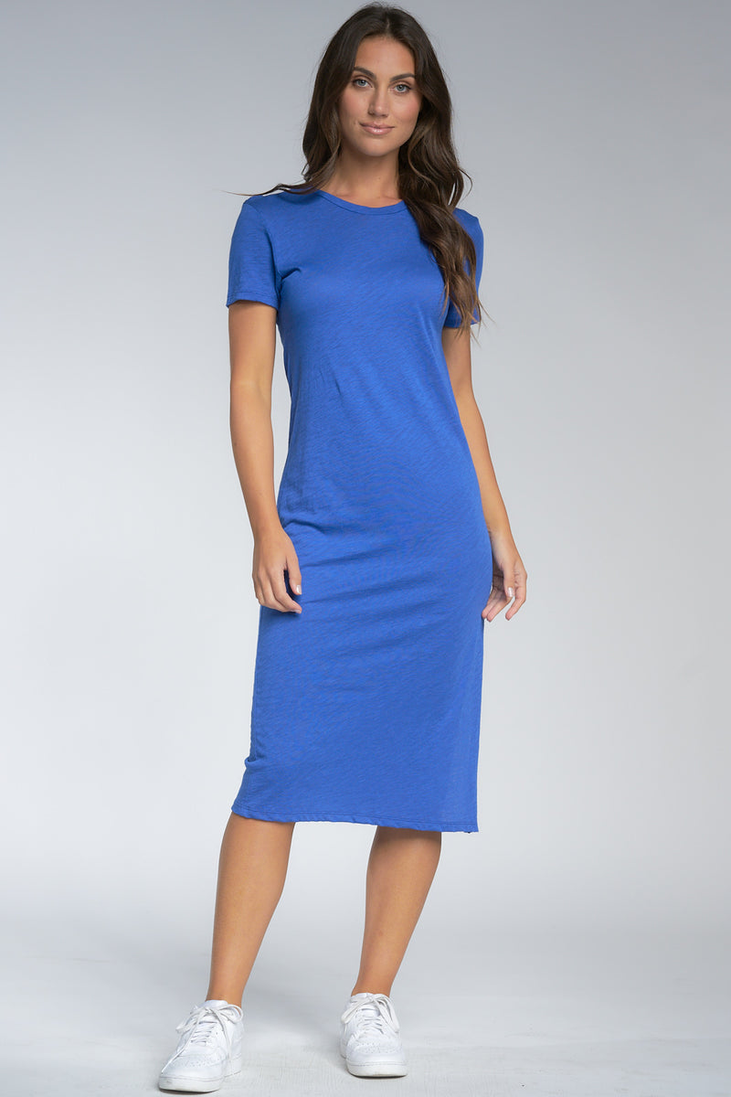 Elan - T Shirt Dress (SM5689, Electric Blue)