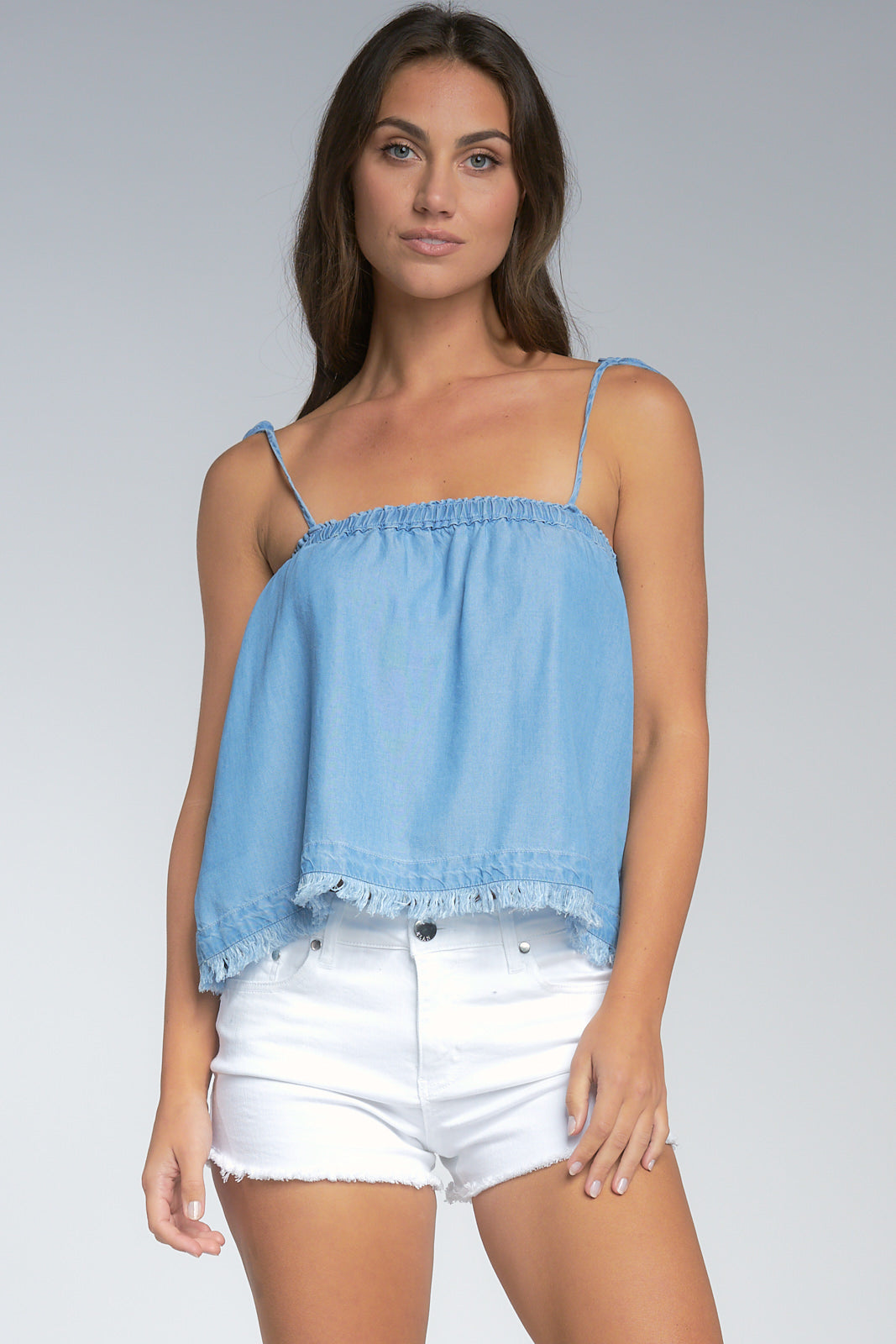 Elan - Denim Cami (VTD10335, Sky Blue Denim)