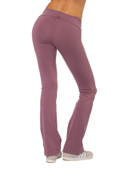 Roll Down Boot Cut (Style 330, Dusty Rose) by Hard Tail Forever alt view 3