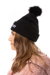 Mitchie's - Bad Hair Day Knit Hat (HTRA05, Black)