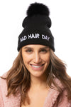 Mitchie's - Bad Hair Day Knit Hat (HTRA05, Black) alt view 2