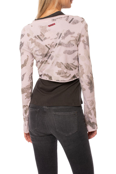 Hard Tail Forever - Crop Bell Sleeve (SL-12, Camo Rose) alt view 2