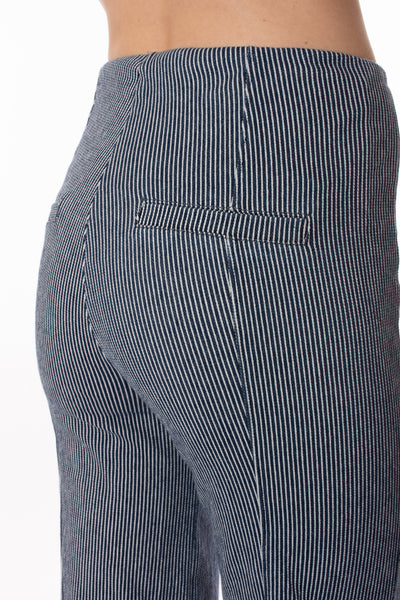 Lysse - Pinstripe Denim Wide Leg (2583, Navy & White Pin Stripes) alt view 3