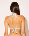 Bleu Rod Beattie White Twist Halter Triangle D-CUP alt view 1